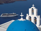 Celebrity Solstice in Santorini