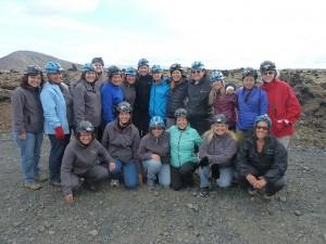Iceland caving