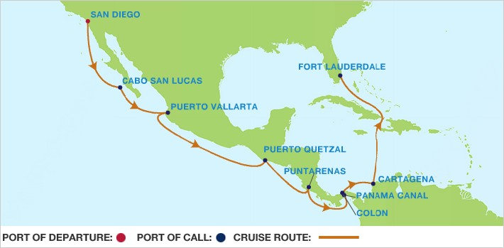 panama canal map - Amazing Journeys