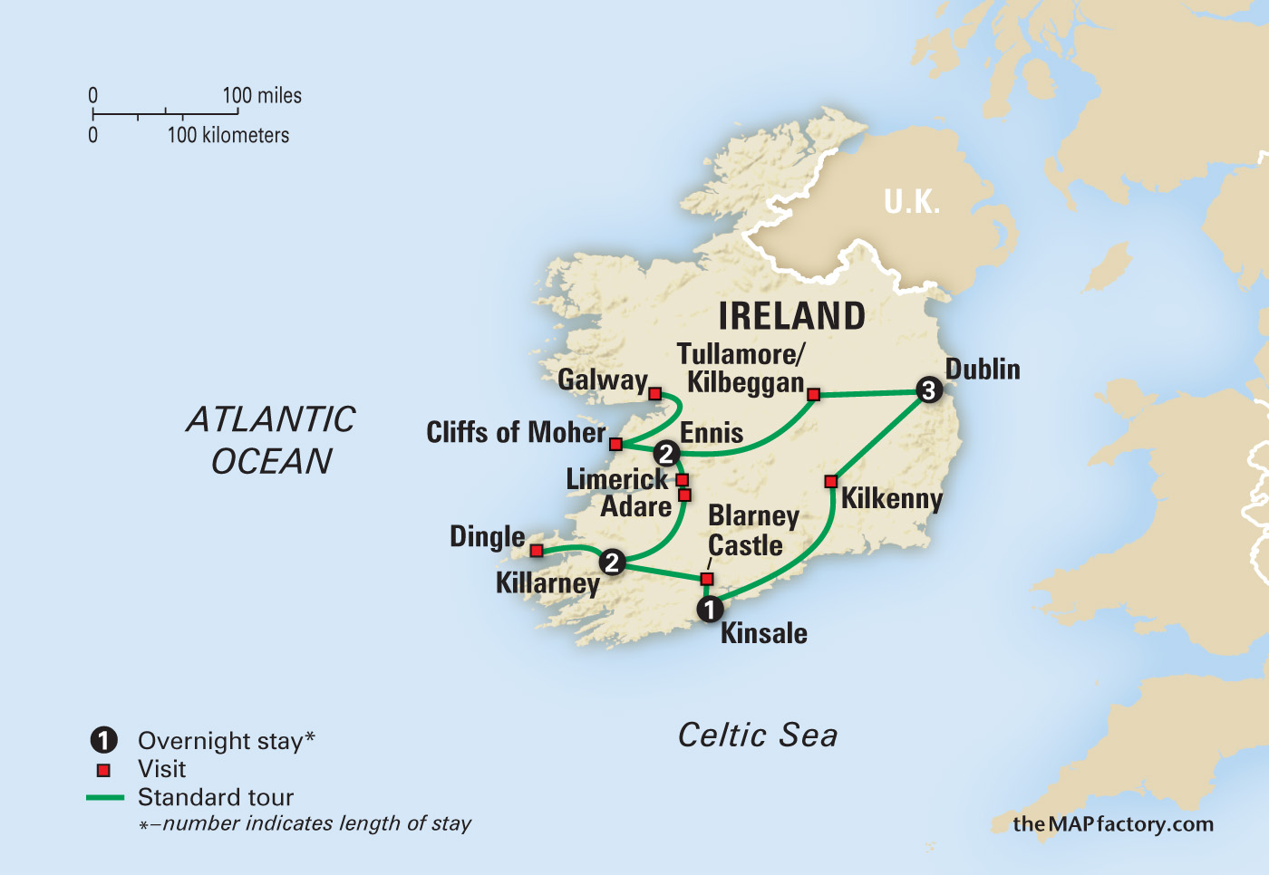 Ireland map   Amazing Journeys