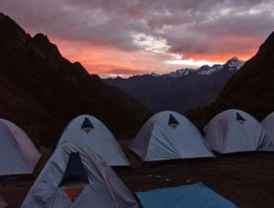 peru inca trail tents